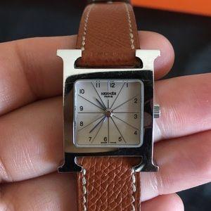 Hermes Heure H Watch, 17 x 17 mm